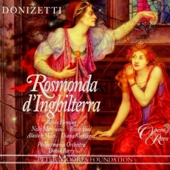 Name:  Rosmonda d'Inghilterra - David Parry 1994, Bruce Ford, Nelly Miricioiu, Renée Fleming, Alastair .jpg Views: 256 Size:  71.2 KB